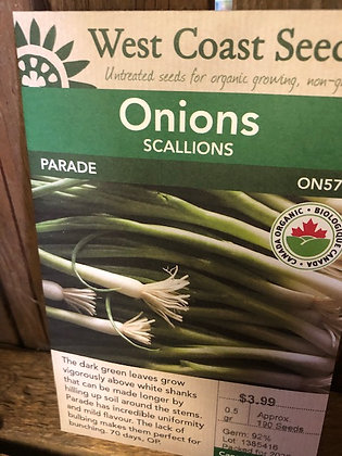 Seed - West Coast -Onion Scallion Paradee