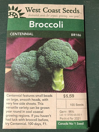 Broccoli Centennial  -  West Coast Seed