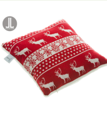 Reindeer Pillow  Red White