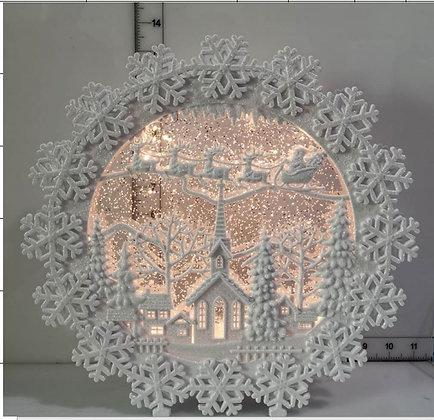 Snowflake Wreath Water Globe LED