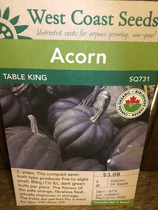 Squash Acorn Table King - West Coast Seed