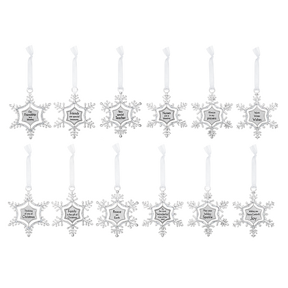 Swirling Snowflake Ornaments