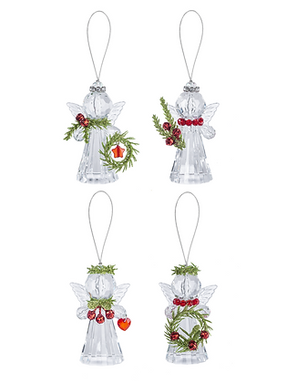 Teeny Mistletoe Angel Ornaments