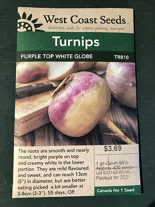 Turnip Purple Top White Globe - West Coast Seed