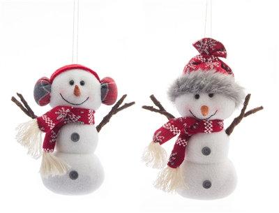 "Snowman Ornament 7.5"" Fabric"