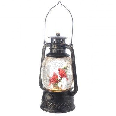 LED Cardinal In Tree Lantern
