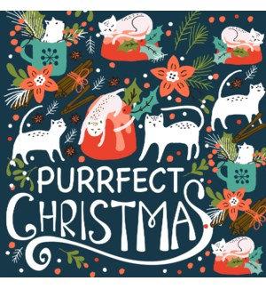 Napkin Luncheon - Purrfect Christmas
