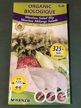 Lettuce Mesclun Mix -  McKenzie Seedtape Organic