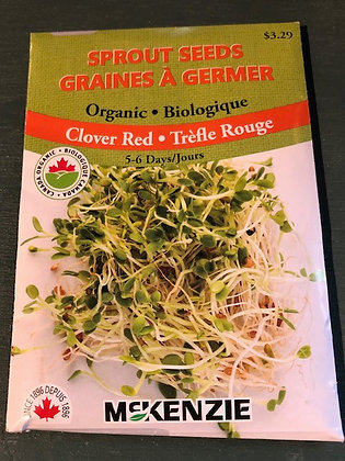 Sprouts Red Clover - McKenzie Organic