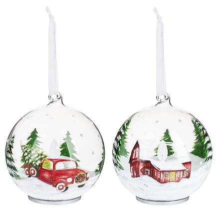 LED Glass Vintage Ornaments