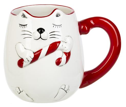 Cat CandyCane Mug