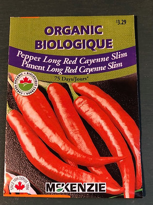 Pepper Long Red Cayenne -  McKenzie Seed