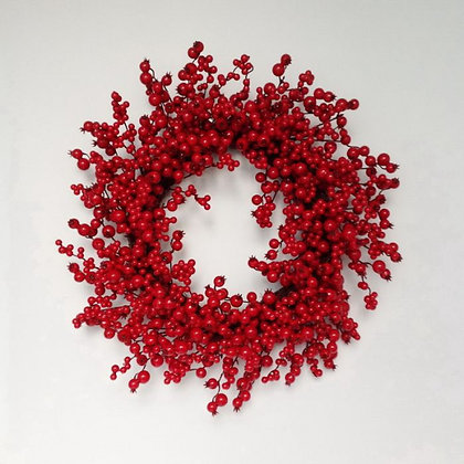Wreath - Mixed Berry Crabapple 24""