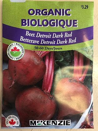 Beet Detroit Dark Red - McKenzie Organic