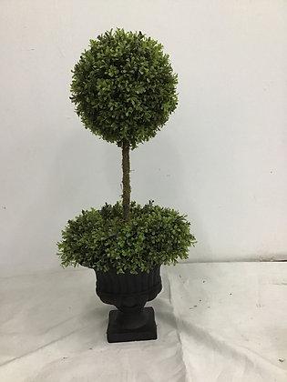 "Boxwood Topiary Ball 34"" w Pot"