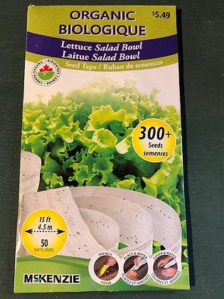 Lettuce Salad Bowl - McKenzie Seedtape