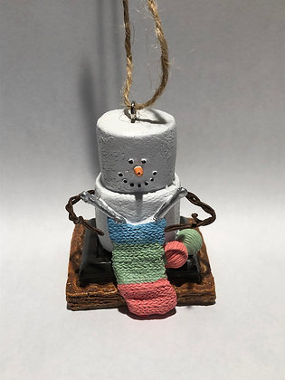 S'mores Knitting Ornament