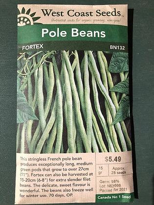 Bean Pole Fortex  -  West Coast Seed