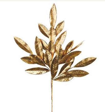 Bay Leaf Spray Gold
