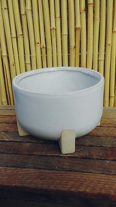 """Clay Pot White Footed  7""""x 4.5"""""""