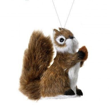 Furry Squirrel Ornament