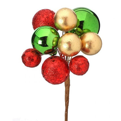 Red Gold & Green Sequin Ball Pick