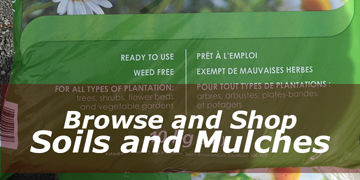 Buy bagged soils and mulches for safe curbside pickup.