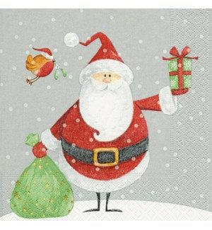 Napkin Luncheon - Santa and Robin