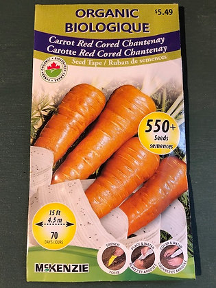 Carrot Red Cored  -  McKenzie Seedtape Organic