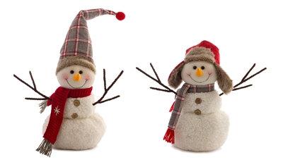 """Fabric Snowman 14"""""""