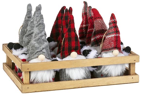 Stuffed Gnome Ornament