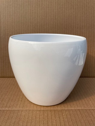 Ceramic Pot 'Corban'  White  6""