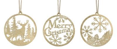 """Gold Metal Ornament 10"""""""