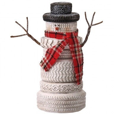 """Country Tire Stack Snowman 8"""""""