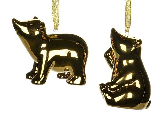 Gold Bear Ornament