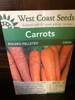 Carrot Bolero Pelleted -  West Coast Seed