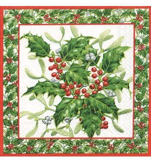 Napkin Luncheon - Mistletoe and Ilex