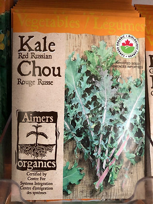 Seed - Aimers Organic - Kale Red Russian