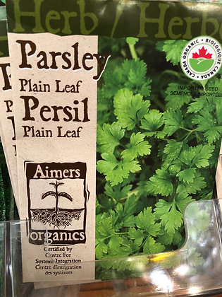 Seed - Aimers Organic Herb - Parsley Plain Leaf