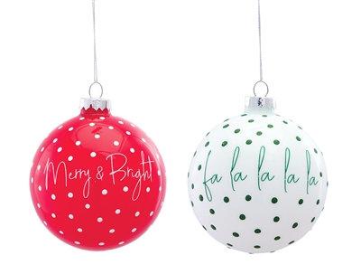 """Glass Ornament 4"""" Bright Colours"""
