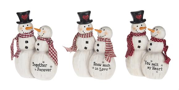 Snow Couple Figurine