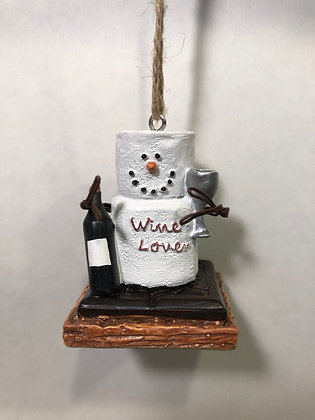 S'mores Wine Lover Ornament