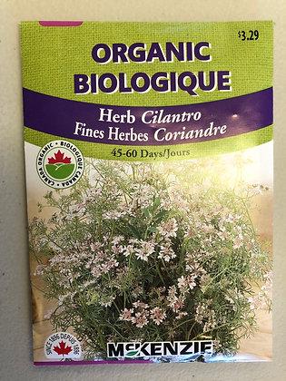 Seed - McKenzie Organic -Herb Cilantro