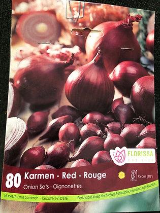Onion Sets - Karmen Red - 80 bulbs