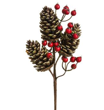 Pine Cone/Berry Pick Brown Red