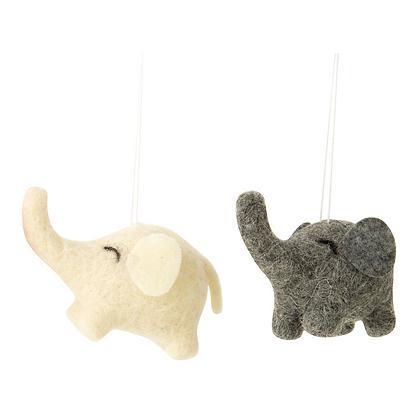 """Felt Elephant Ornament 2.5"""""""