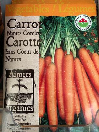 Seed - Aimers Organic - Carrot Nantes Coreless