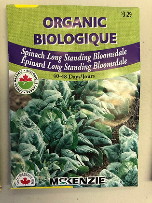 Seed - McKenzie Organic -Spinach Long Standing