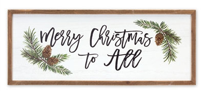Wall Plaque Merry Christmas