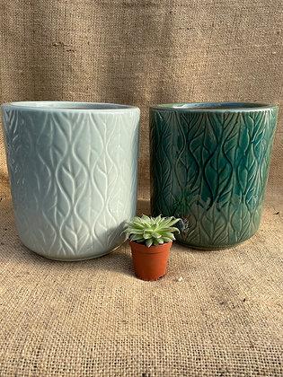 "Ceramic Pot  'Lars'  6""  (Select Colour)"
